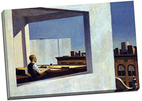 Edward Hopper Büro in eine kleine CITY Canvas Print Wall Art Bild groß 76,2x 50,8cm