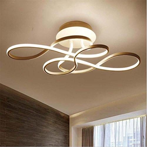 NIHE Design simple lampe de plafond LED lampe de plafond moderne L75 * W37 * h22cm salon chambre blanc/noir LED plafonnier, white