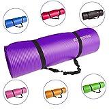 KG Physio Premium Yogamatte, Gymnastikmatte, Fitnessmatte, Trainingsmatte oder zuhause mit Schultertragegurt 183 x 60 x 1cm