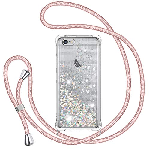 TUUT Funda Glitter Liquida con Cuerda para iPhone 6/ 6s,