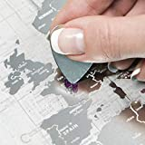 Carte à gratter inspirée des cartes de l'aviation