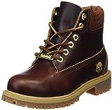 Timberland Unisex Kinder 6 Inch Premium Waterproof Klassische Stiefel, Gelb (Wheat Quartz Exotic H42), 33 EU