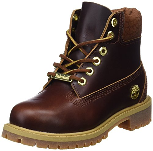 Timberland Unisex Kinder 6 Inch Premium Waterproof Klassische Stiefel, Gelb (Wheat Quartz Exotic H42), 30,5 EU