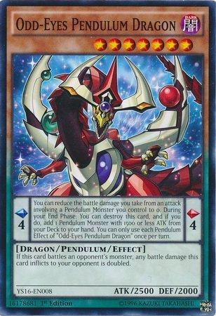 YU-GI-OH! - Odd-Eyes Pendulum Dragon (YS16-EN008) - Starter Deck: Yuya - 1st Edition - Common