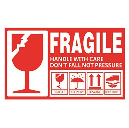 creve FRAGILE フラジール ステッカー ラベル Sサイズ 9×5cm 防水 光沢 こわれもの 取り扱い注意 スーツケース デコレーション (30枚セット)