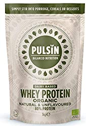 Versatile unflavoured protein powder 80% Protein Organic Low Fat Easily mixes into sweet and savoury recipes and smoothies