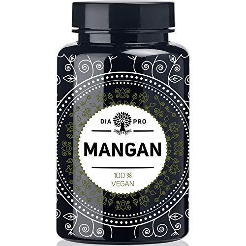 DiaPro® Manganeso 365 comprimidos de manganeso con 10 mg de manganeso por comprimido de manganeso bisglycinato 365 unidades de reservas anuales, 100% vegano, probado en laboratorio