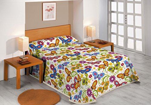 SABANALIA - Colcha Butterflies (Disponible en Varios tamaños) - Cama 90-180 x 280