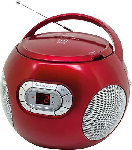 Soundmaster SCD2120RO CD-Boombox mit UKW Radio und Hörbuchfunktion