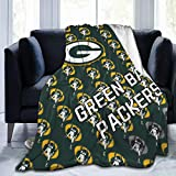 Best Fleece Bed Blankets, American Football Sports Team Halloween Throw Blankets, Anti-Static Super Soft Moving Blanket for Women Recliner Airplane, 50X40 Inch