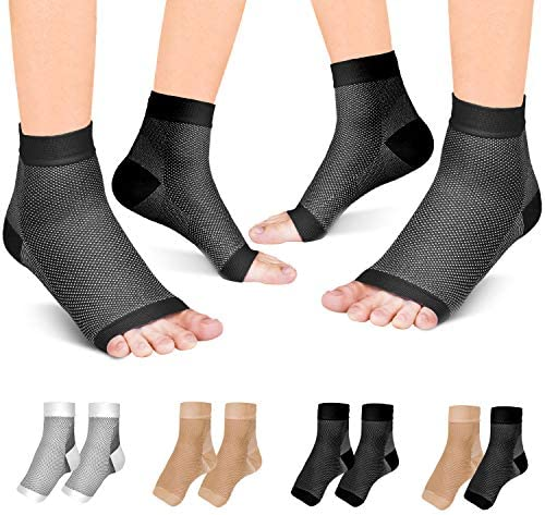 Fondenn Plantar Fasciitis Socks 2 Pairs Compression Foot Sleeves with Heel Arch Ankle Support product image