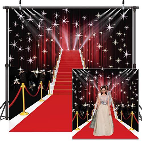 Dudaacvt 8x8ft Red Carpet Vinyl Photography Backdrop Happy Birthday Backdrop Wedding Backdrops Studio Prop D051