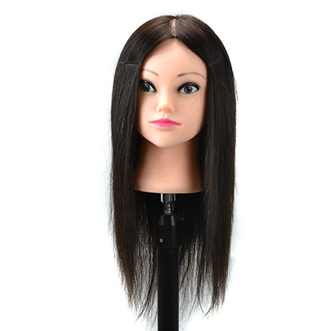 雄弁家に対応枯渇トリミングパーマウィッグマネキンヘッドパンヘッド化粧練習ダミーヘッドは小さなブラケットで染められたホットロールトレーニングヘッドにすることができます