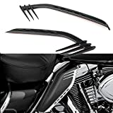 Newsmarts Mid-Frame Air Heat Wind Deflector Trim Accents Decoration Compatible with Harley Ultra Limited CVO Road King Electra Glide Street Glide Road Glide