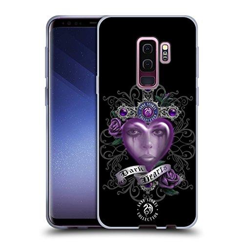 Head Case Designs Oficial Anne Stokes Morado Corazones Oscuros Carcasa de Gel de Silicona Compatible con Samsung Galaxy S9+ / S9 Plus