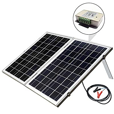 ECO-WORTHY 12 Volts Portable Foldable Solar Panel Kit Solar Suitcase Battery Charger, 40W 100W 120W Solar Suitcase