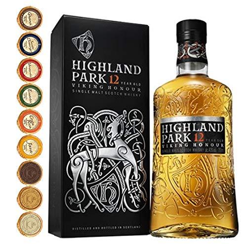 Highland Park 12 Jahre Single Malt Whisky + 9 Edel Schokoladen in 9 Sorten