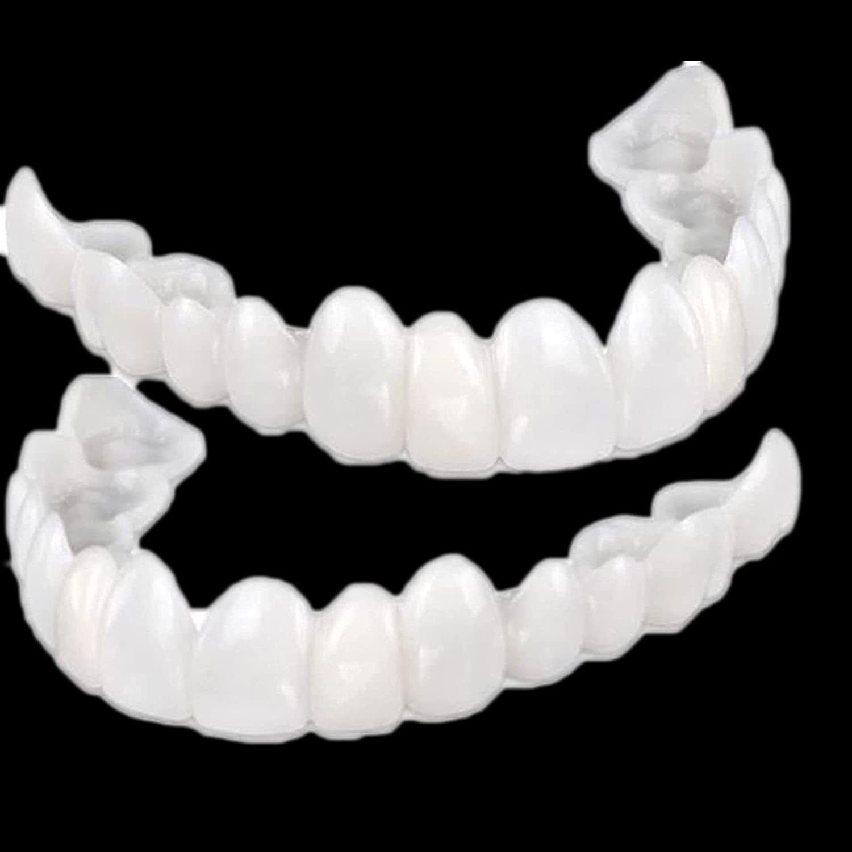 Teeth Veneers,Snap On Over item handling famous ☆ Denture Fake Veneers for Teachi