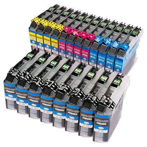 ESMOnline 20 kompatible Druckerpatronen (4 Farben) für Brother MFC J4420DW J4620DW J4625DW J5320DW J5620DW J5625DW J5720DW J880DW J680DW J480DW DCP J562DW J4120DW (LC223)