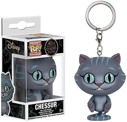 MEIQI - Gatto del Cheshire x Pop! Portachiavi Alices Adventure in Exquisite PVC Multicolor Figure da collezionare