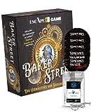 Juego de Escape: Baker Street – El legado de Sherlock Holmes + 4 pegatinas Escape + 1 adorno de metal
