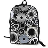 O-X_X-O Unisex Classic Lightweight Polyester Mechanical Engineering Gear Backpack School Rucksack Travel Backpack College School Bags Laptop Backpack