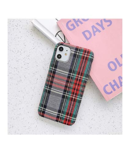 Funda Moda Funda de Tela de Color sólido Compatible con iPhone 11 Pro MAX XS X XR 6 S 6S 7 8 Plus Soft Silicone Slim Warm Thel Funda de Tela Compatible con iPhone11 Phone