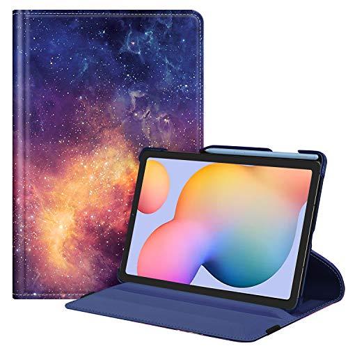 Fintie Hülle für Samsung Galaxy Tab S6 Lite - 360 Grad verstellbare Schutzhülle mit S Pen Halter, Auto Schlaf/Wach Funktion für Samsung Tab S6 Lite 10.4 SM-P610/ P615 2020, Die Galaxie
