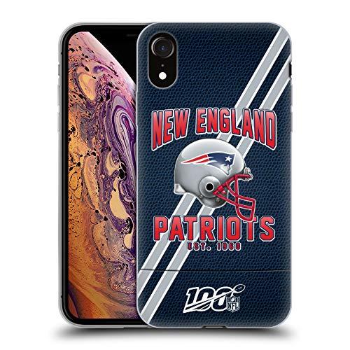 Head Case Designs Offizielle NFL Football Streifen 100ste 2019/20 New England Patriots Soft Gel Handyhülle Hülle Huelle kompatibel mit Apple iPhone XR