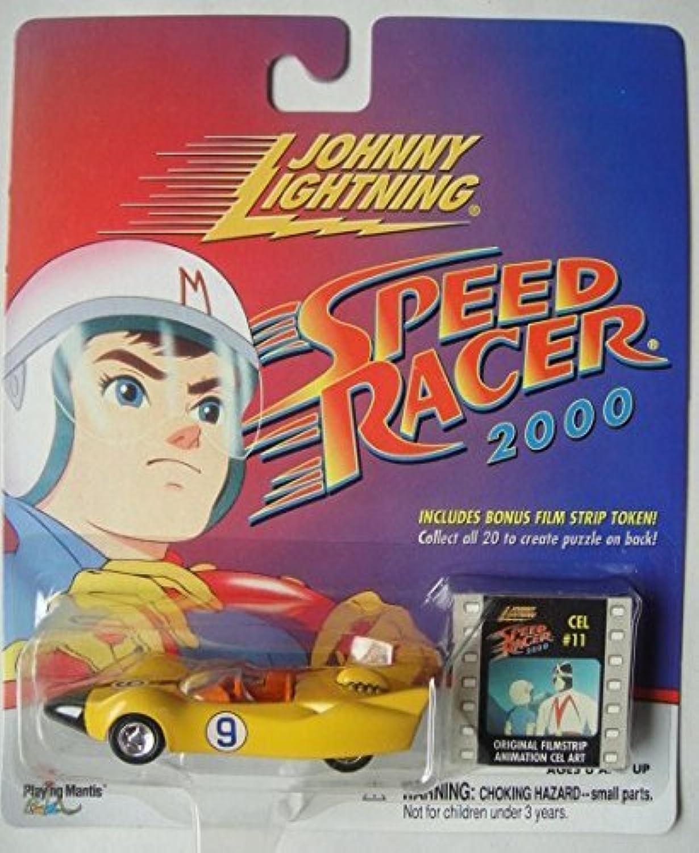 JOHNNY LIGHTNING SPEED RACER 2000 Gelb RACER X SHOOTING STAR INCLUDES BONUS FILM STRIP TOKEN  CELL  11 by Johnny Lightning