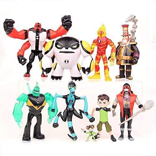 Conjunto de 9 Ben 10: Supremacía Alienígena Juguetes de Figuras de acción...