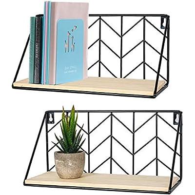 TIMEYARD Floating Shelves Wall Mounted Set of 2...