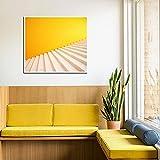 Arte de pared abstracto Pasos amarillos Impresión de fondo Pintura Cartel nórdico Obra de arte moderna Hogar Sala de estar Dormitorio Arte de la pared Decoración-40x50cm Sin marco