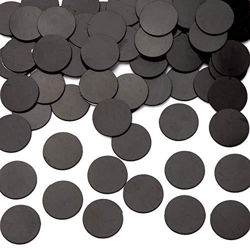 Baker Ross AR835 Discos Magnéticos Autoadhesivos Grandes de 25 mm (Pack de 100) para Manualidades Infantiles, Negro