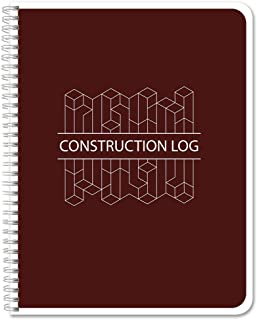 BookFactory Construction Daily Activity Log Book/Construction LogBook (100 Pages - 8.5