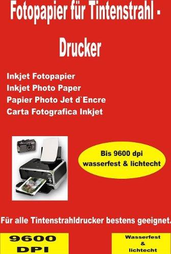100 Blatt 240g DIN A4 Fotopapier Inkjet Tintenstrahldrucker Mehrzweck-Fotopapier - Gussgestrichenes, hochweißes und glänzendes Papier für hochqualitative Farbausdrucke.