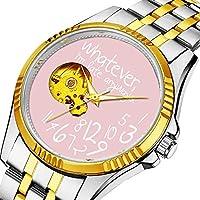 男性の人格ダイヤル&クリアウィンドウのためのカジュアルメンズ自動機械式時計高級ブランドカジュアルスポーツウォッチ 946. 何でも私は遅刻します-ピンク