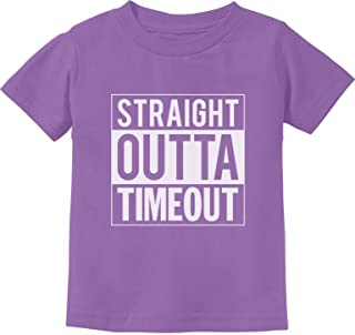 Tstars - Straight Outta Timeout Funny Toddler Kids T-Shirt
