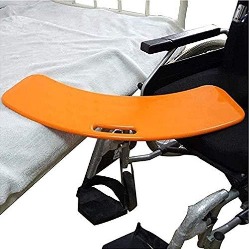 YIQIFEI Ayuda de Transferencia para sillas de Ruedas y Tabla Deslizante, Tabla de Transferencia Deslizante Curvada, Tabla de Transferencia Curva para Ancianos, discapacitados, discapacitados (Silla)