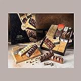 LUCGEL Srl (575 gr) Barritas de chocolate surtidas con TABLA DE CORTE Y HOJA extraíble Caja de regalo de chocolate VENCHI