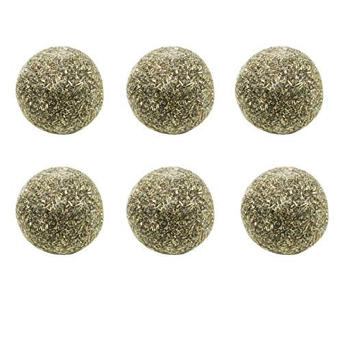 Sue-Supply Cat Mint Ball Cat Kicker Toy Catnip Balls Cat Toy Interactive Ball,6 Pack - Pure Natural Mint Leaf Rotating Interactive Cat Toys,Teeth Cleaning Catmint Toy For Kitty Playing Chewing