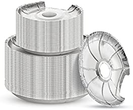 Pack of 50 Disposable Durable Burner Bibs for Electric and Gas Range Stoves - Aluminum Foil Round Burner Cover Liners - Great for Avoiding Cleanup from Oil & Food Dripping - (25 Large & 25 Small)
