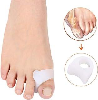 外反母趾のサポート 足のセパレータBunion Correctors Gel Toe SpacersハヌーValgusハンマートウオーバーラップトゥー 足の内側の痛みや腱膜を和らげる (サイズ : L)