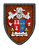 Hernández II Custom Coat of Arms Spanish Hispanic Family Crest Ancestry and Heritage Hanging Metal Shield - Hand Made in The USA