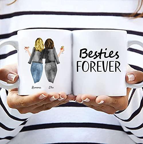 Freundinnen Memory Tasse | Beste Geschenk für Mutter oder besten Freund | Beste Freunde Personalisierte Tasse (1 Tasse für 16,95 Euro)