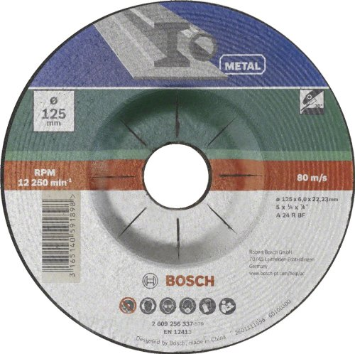 Bosch 2609256339 DIY Schruppscheibe Metall 230 mm ø x 6 mm gekröpft