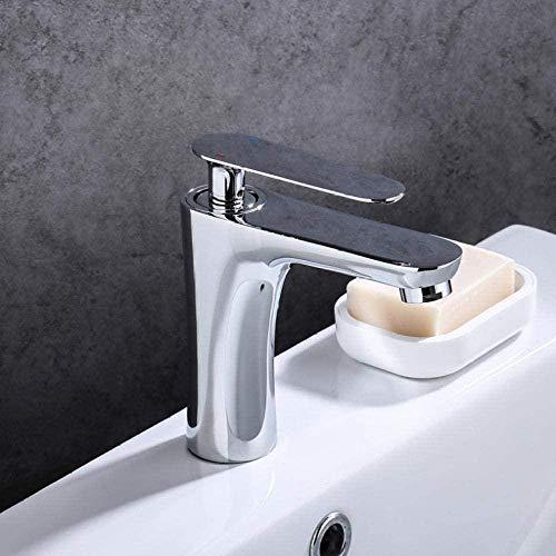 Grifo de baño Grifo de lavabo Acabado cromado Grifo de baño Grifo de lavabo Mezclador Grifo de agua Caliente y fría