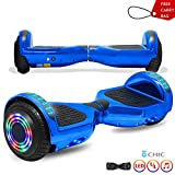 CHO POWER SPORTS 6.5' Wheels Hoverboard Safety Certified Hover Board Electric Self Balancing Scooter with Built in Speaker Flashing LED Lights Wheels (Shiny Night)