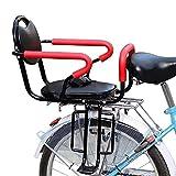 litulituhallo Asiento de bicicleta de niño Asiento trasero de seguridad estable bebé niño asiento trasero silla con barandilla