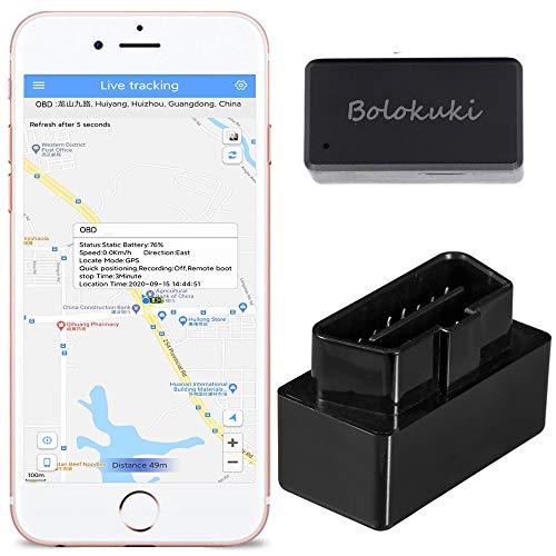 Bolokuki OBD Localizzatore GPS Auto Car Veicoli Tracker Locator per Flotta Taxi RECINZIONE GEO PERCORSO STORICO POSIZIONAMENTO IN TEMPO REALE